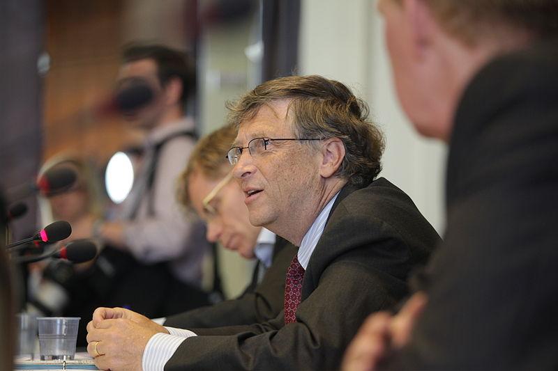 Bill Gates addresses public health officials in Geneva in 2011. | Source: U.S. Embassy Geneva, Wikimedia Commons