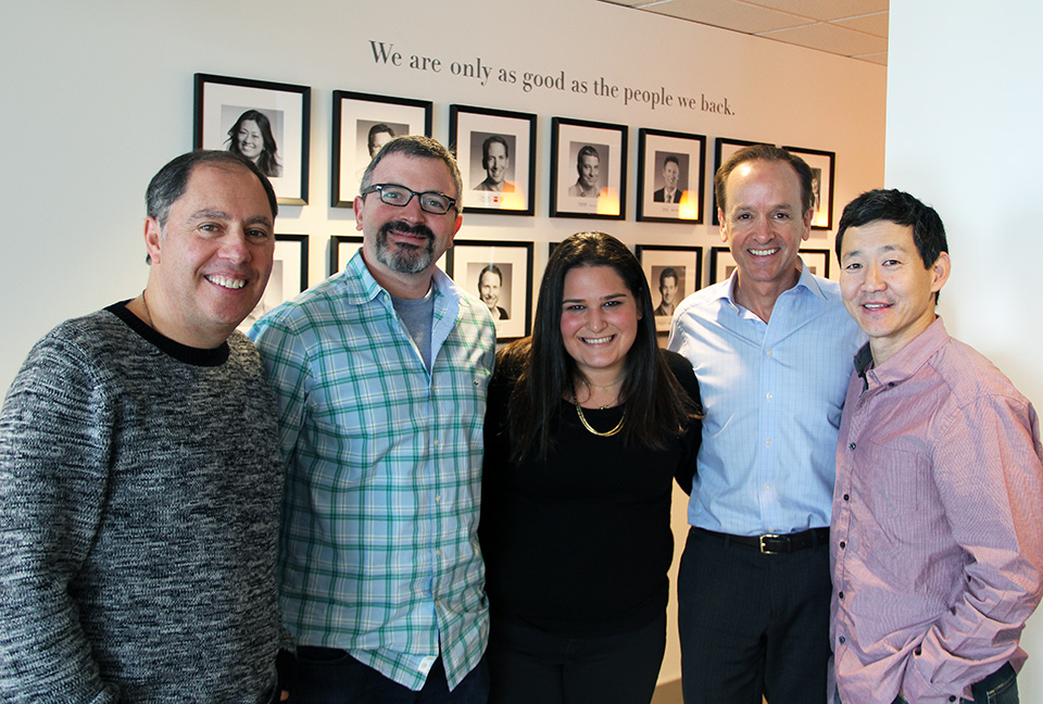 From left to right: Maveron co-founder Dan Levitan, partner Jason Stoffer, principal Rebecca Kaden, partner Clayton Lewis, partner David Wu.