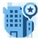 Business development building icon