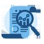 Private market intelligence data icon