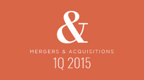 M&A in 1Q 2015: A visual recap