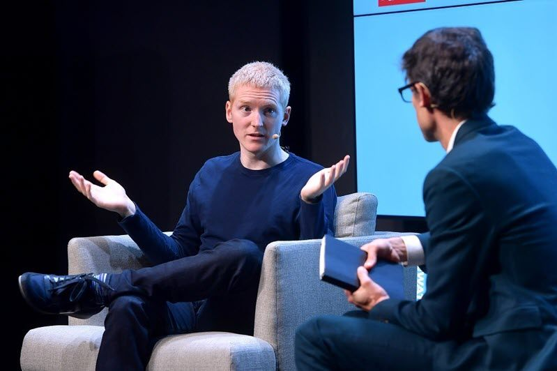 Stripe CEO Patrick Collison onstage at the WIRED25 Summit on Nov 8, 2019
