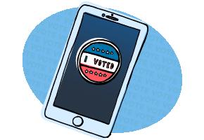 Votem mobile voting illustration