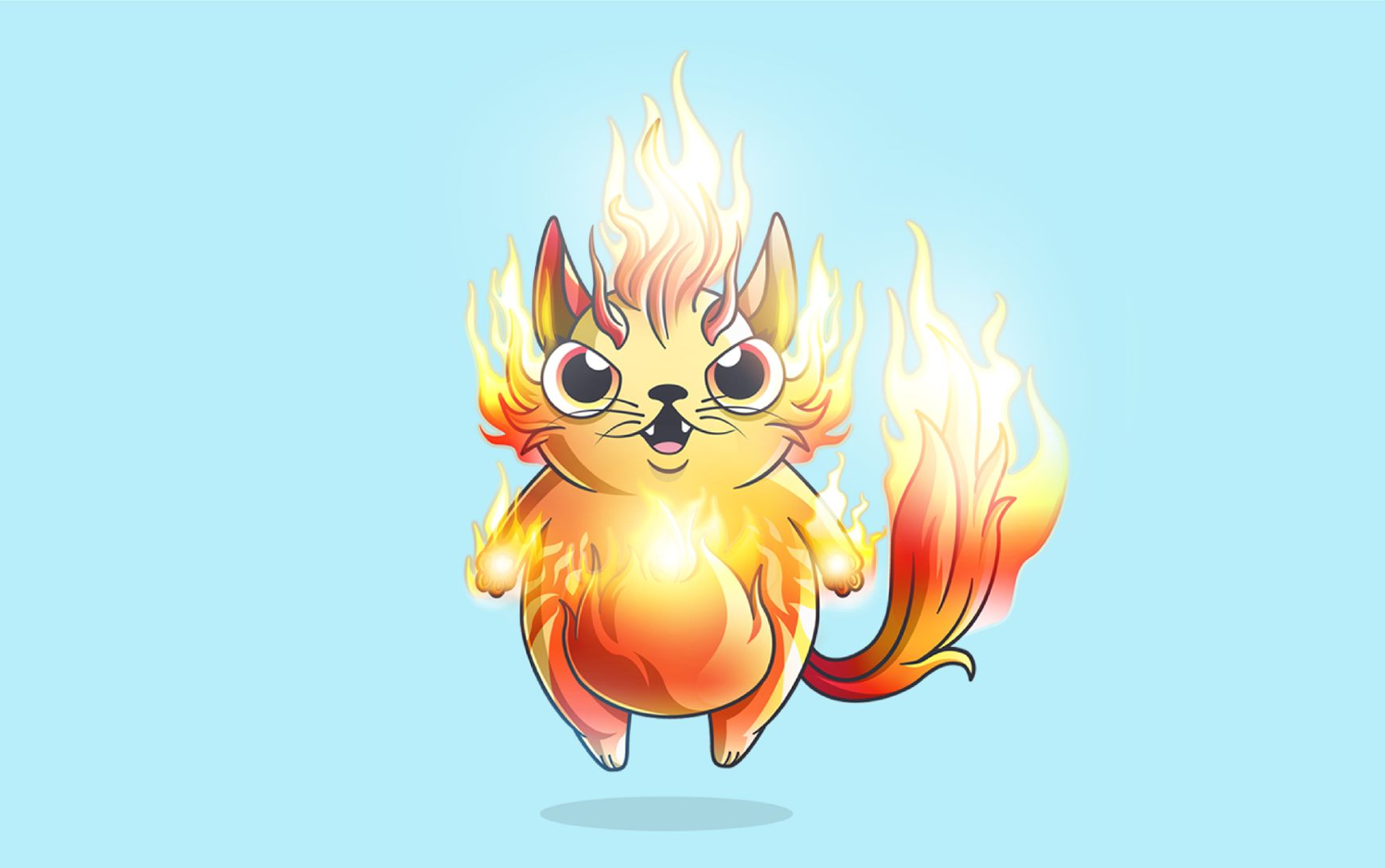 A fancy cat from CryptoKitties