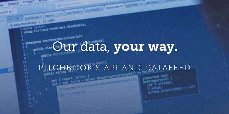 Announcing The Launch Of Our New Api And Datafeed Pitchbook Product Releases