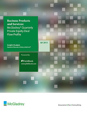 McGladrey & PitchBook Spotlight on Business Products and Services?uq=w9if130k