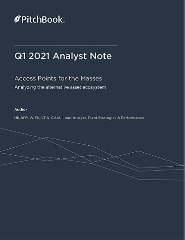 PitchBook Analyst Note: Access Points for the Masses