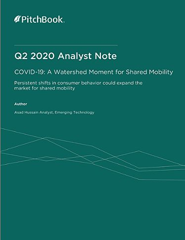 PitchBook Analyst Note: A Watershed Moment for Shared Mobility