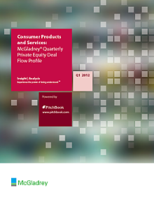 McGladrey's Private Equity Deal Flow Profile: Consumer Products & Services