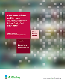 McGladrey & PitchBook Spotlight on Consumer Products and Services