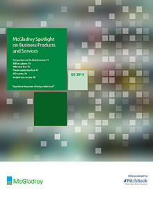 McGladrey & PitchBook Spotlight on Business Products and Services