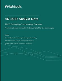 PitchBook Analyst Note: 2020 Emerging Technology Outlook