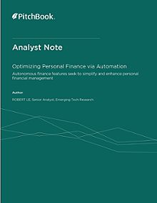 PitchBook Analyst Note: Optimizing Personal Finance via Automation