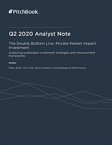 PitchBook Analyst Note: The Double Bottom Line: Private Market Impact Investment