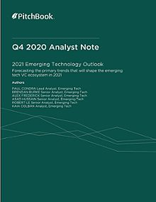 PitchBook Analyst Note: 2021 Emerging Technology Outlook