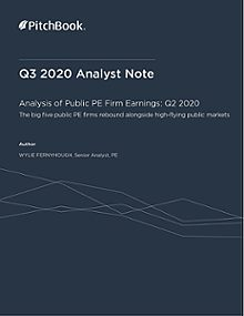 PitchBook Analyst Note: Analysis of Public PE Firm Earnings: Q2 2020