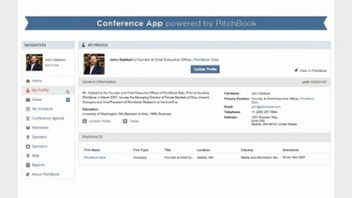 The Conference App, Powered by PitchBook